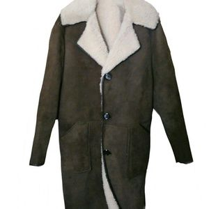 Vintage Australian sheerling leather coat size L